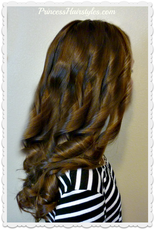 How To Curl Hair With A Flat Iron Easy Tutorial Tips And Tricks Hairstyles For Girls Princess Hairstyles