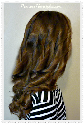 How to curl your hair with a flat iron video tutorial.