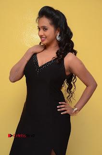 Actress Nakshatra Pictures in Black Long Dress at Miss South India 2016 Press Meet  0058.jpg