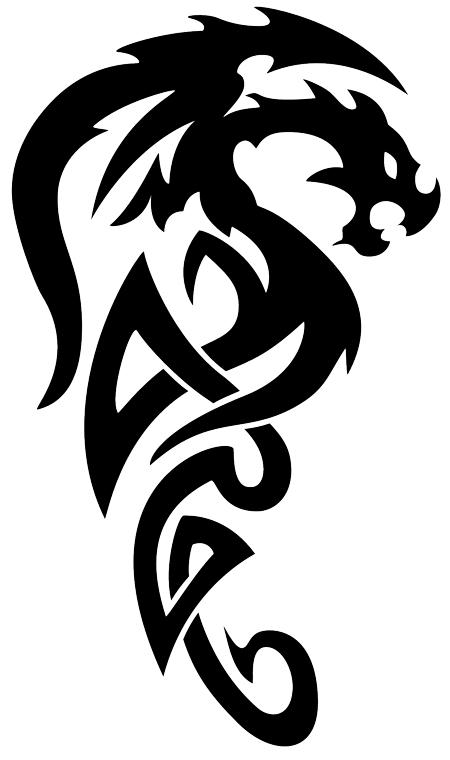 30 Best Simple Dragon Tattoo Drawings images   Dragon ...  Tribal Art Dragon Simple