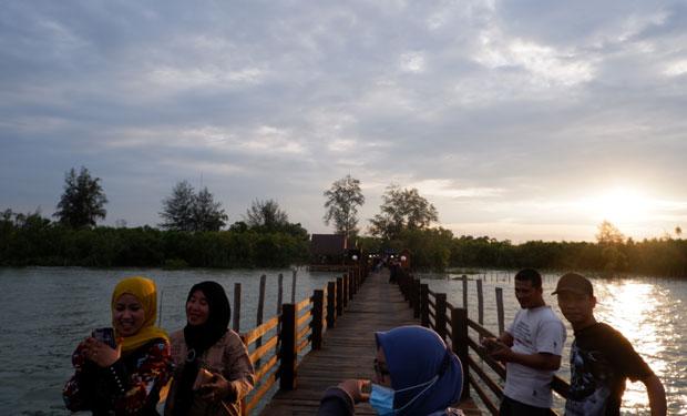 jembatan mangrove di pantai sejarah