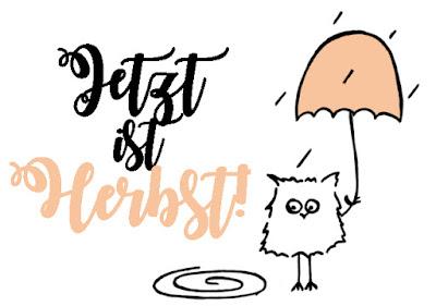 Jetzt ist Herbst! Spruch mit Eule - Some Joys
