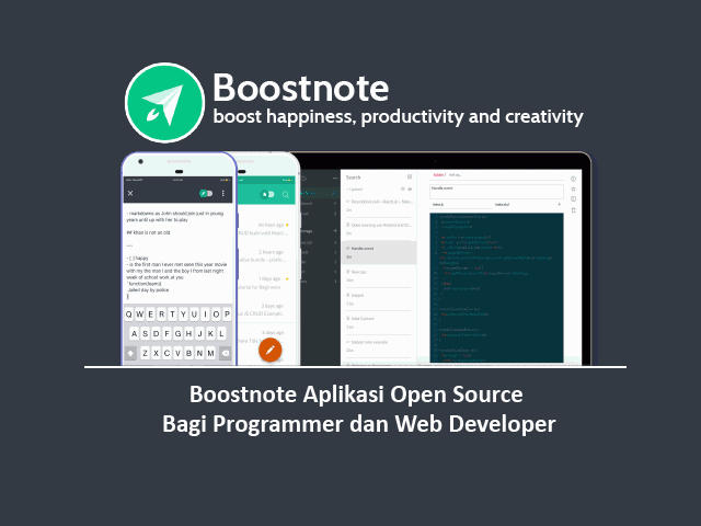 Boostnote Aplikasi Open Source Bagi Programmer dan Web Developer