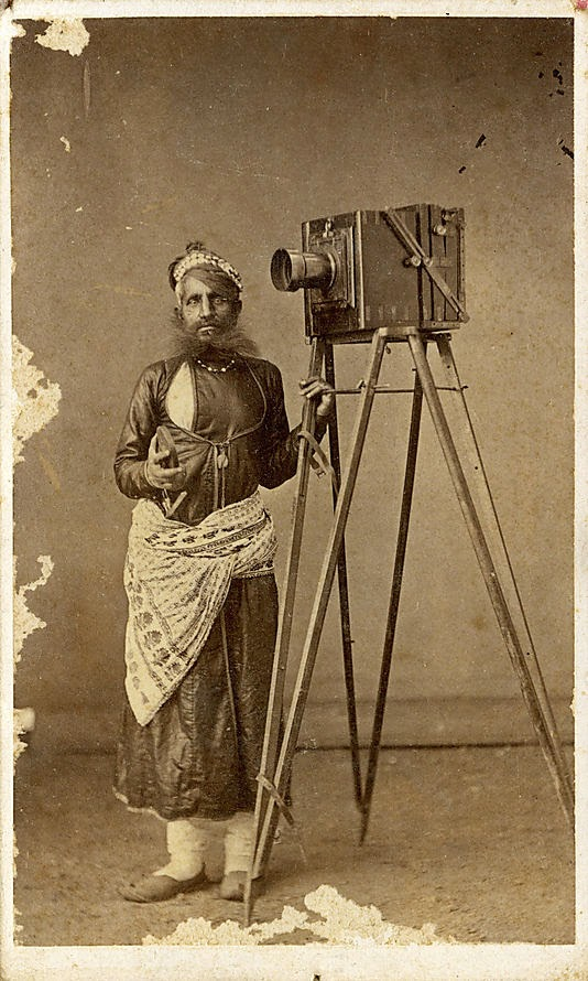 Albumen Photograph of Mohan Lal with His Camera, Udaipur, Rasasthan - c1875