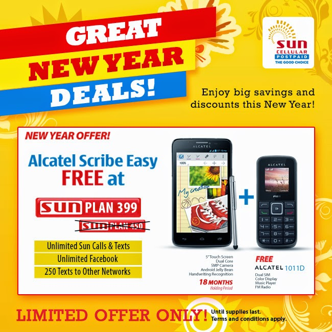 Sun Cellular Postpaid Plans, O+ USA, Alcatel
