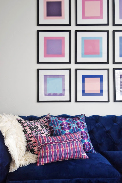 Easy DIY color block wall art.