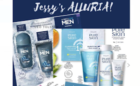 Jessy's Alluria Oriflame skincare, haircare, Oriflame feminelle for vagina cleansing products