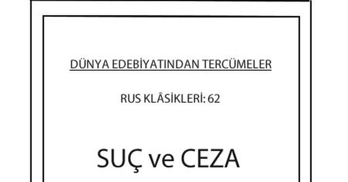 Suç ve Ceza - Dostoyevski PDF indir - E-Kitap Arşivi