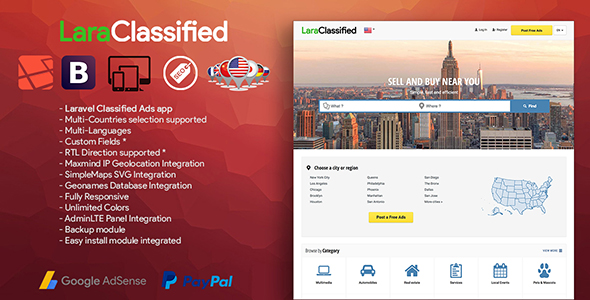 How to install LaraClassified - Geo Classified Ads CMS on Nginx Server?