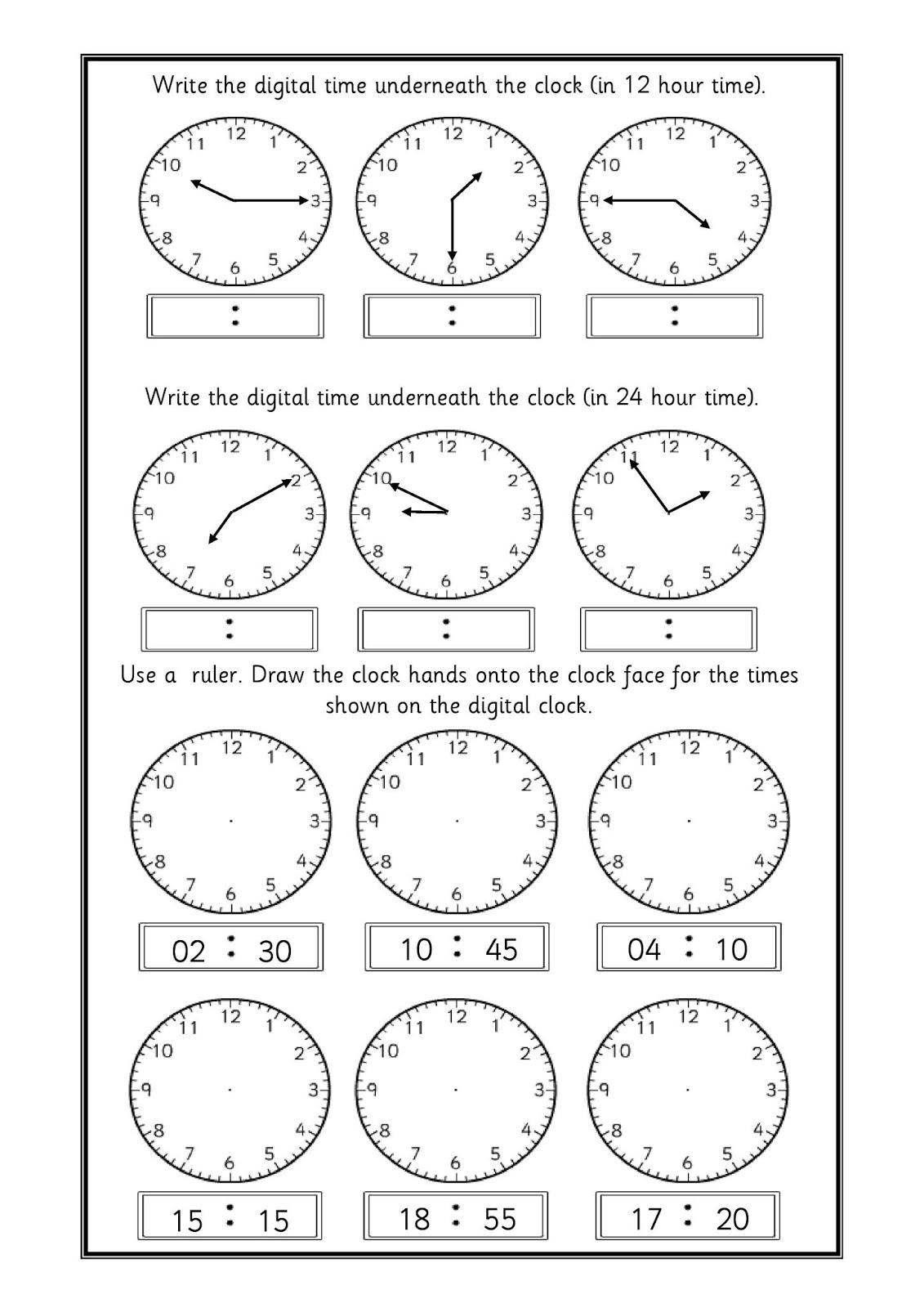 Time Concepts For Primary Kids Kids Fun Time
