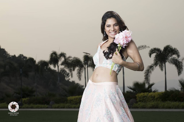 Actress Tanya Hope Latest Cute Hot Light Pink Dress Spicy Photoshoot Gallery