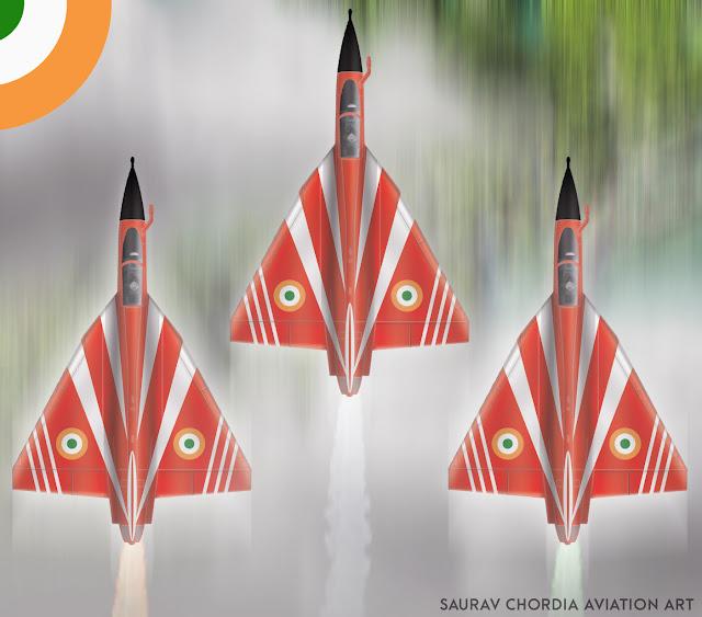 LCA Tejas - Surya Kiran Aerobatics Team SKAT - 001