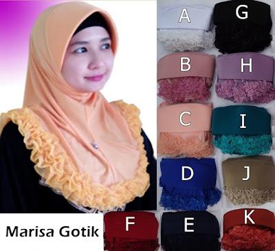 Grosir Jilbab Marisa Gotik