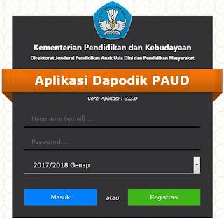 Login Aplikasi Dapodik PAUD