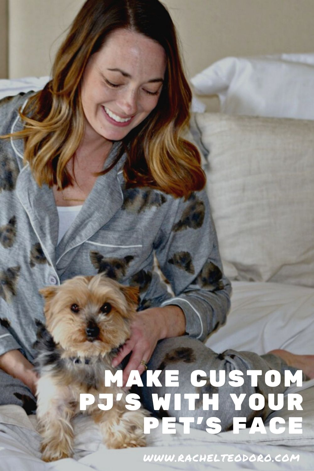 DIY custom pet face pajamas