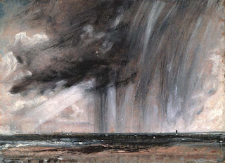 Escena de tormenta al oleo realizada por John Constable
