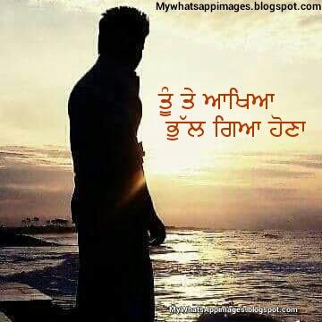 Tu te aakhia bhul gaya hona Punjabi Wording Image For Whatsapp