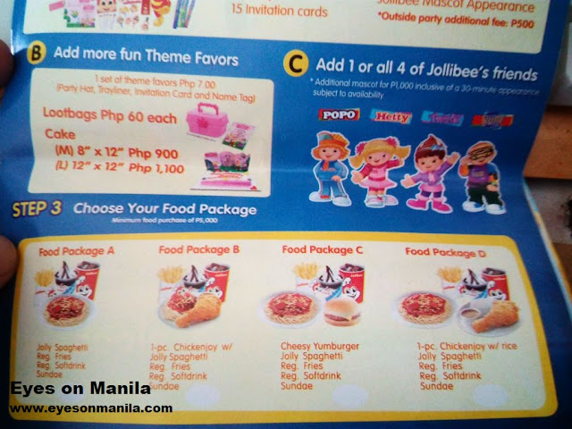 Jollibee Food Package