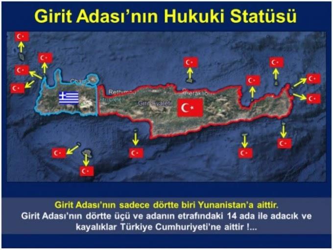 Χάρτες-πρόκληση: Η Κρήτη είναι τουρκική λένε οι Τούρκοι – Αμφισβητούν όλες τις Συνθήκες!