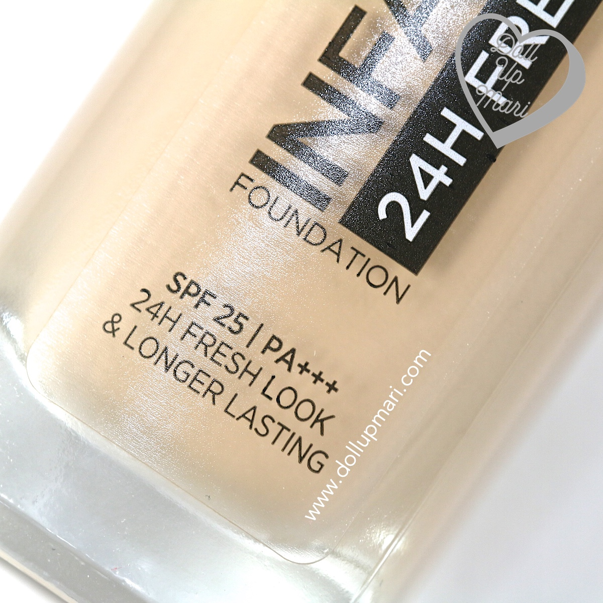 Zoom of Bottle Bottom of L'Oréal Paris Infallible 24HR Fresh Wear Liquid Foundation SPF25PA+++ in shade Golden Beige