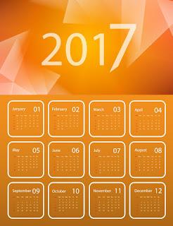 2017カレンダー無料テンプレート215