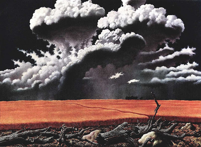 John Rogers Cox, gathering storm over farm