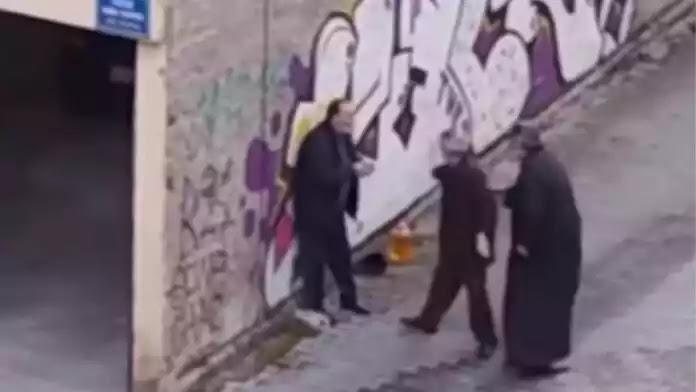 Ιερέας χαστουκίζει  ηλικιωμένο στην Κοζάνη στη μέση του δρόμου – ΒΙΝΤΕΟ