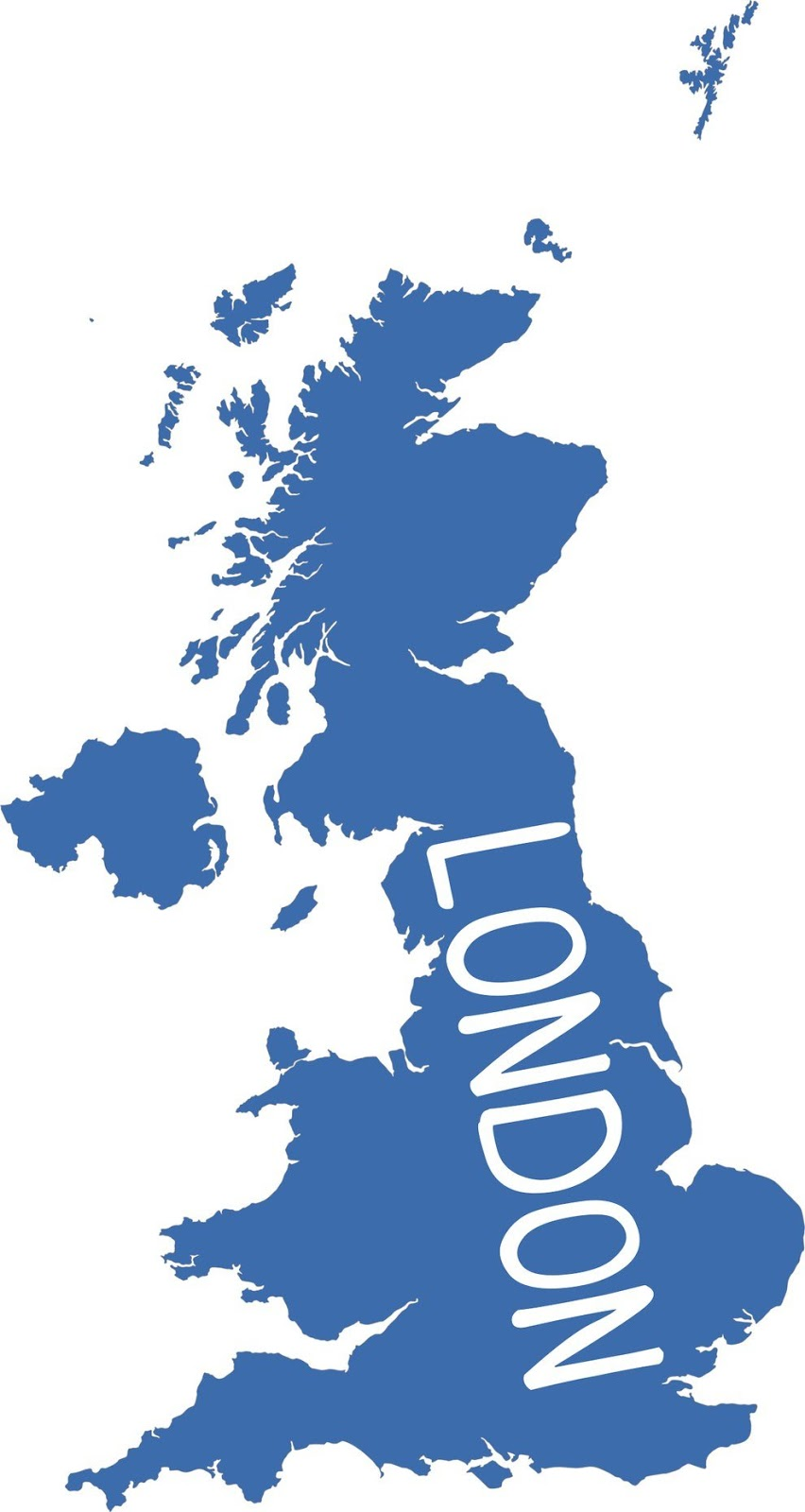 Map of the UK, according to Americans