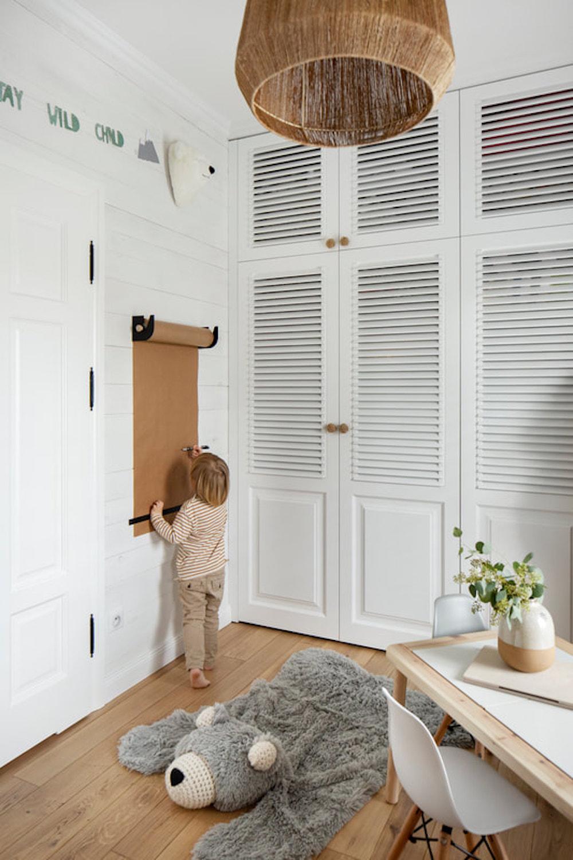 Dormitorio infantil de estilo industrial y rústico