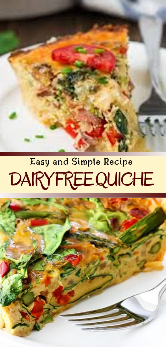 DAIRY FREE QUICHE #dinnerrecipe #food #amazingrecipe #easyrecipe
