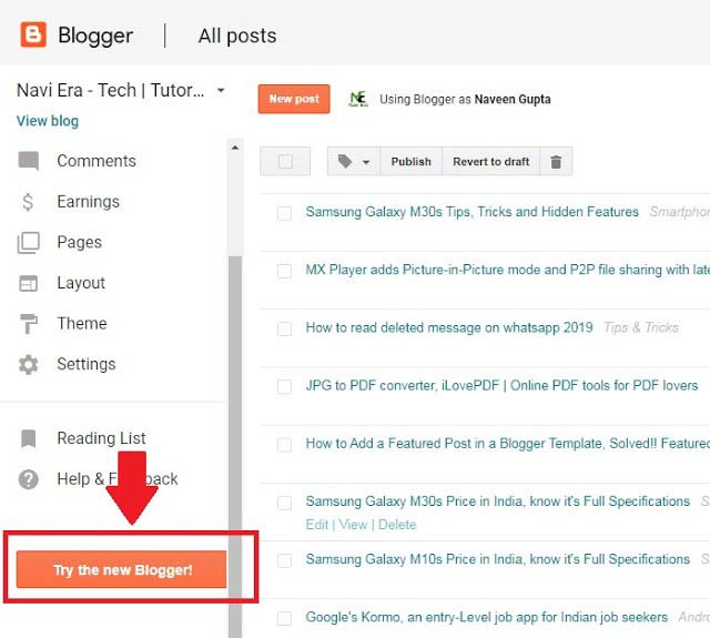 Blogger gets Major UI refresh on Android and web version