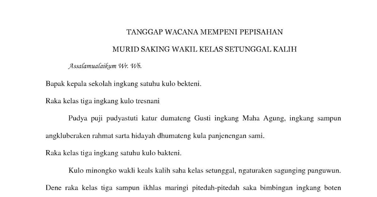 Pidato Bahasa Sunda Singkat Tentang Isra Mi Raj Isra Miraj 18