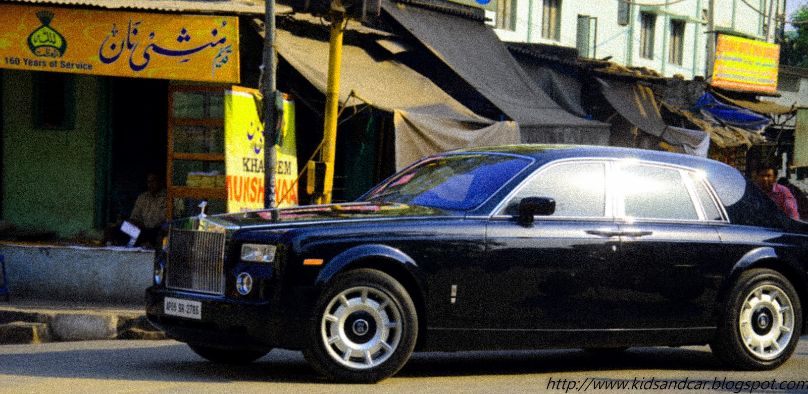A Black Rolls Royce in Old City of Hyderabad