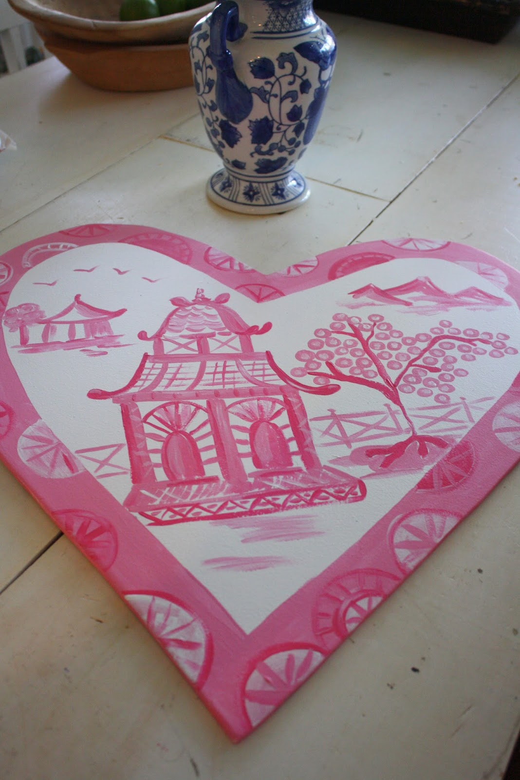 Nothing Painted Blue Big Pink Heart