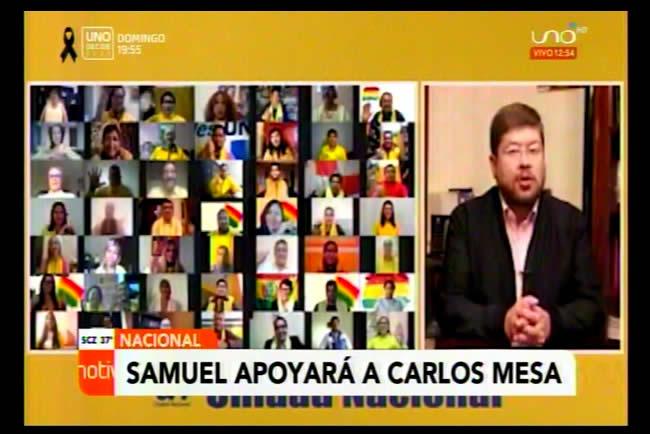 """Doria Medina anuncia apoyo a candidatura de Carlos Mesa """"sin condiciones"""""""