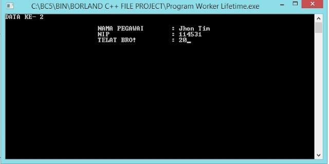 Gambar Input Data Karyawan/Pegawai