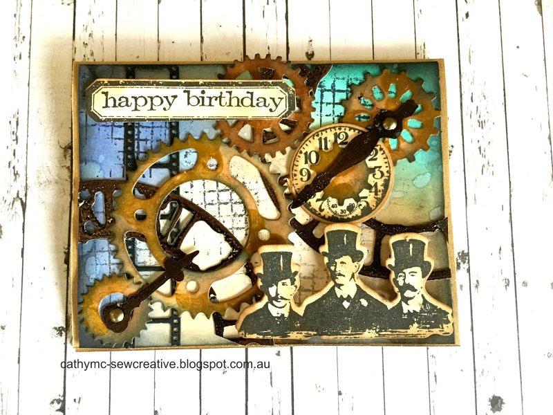 Sew Creative Happy Birthday Steampunk Style – Happy Birthday Cards for a Guy Friend