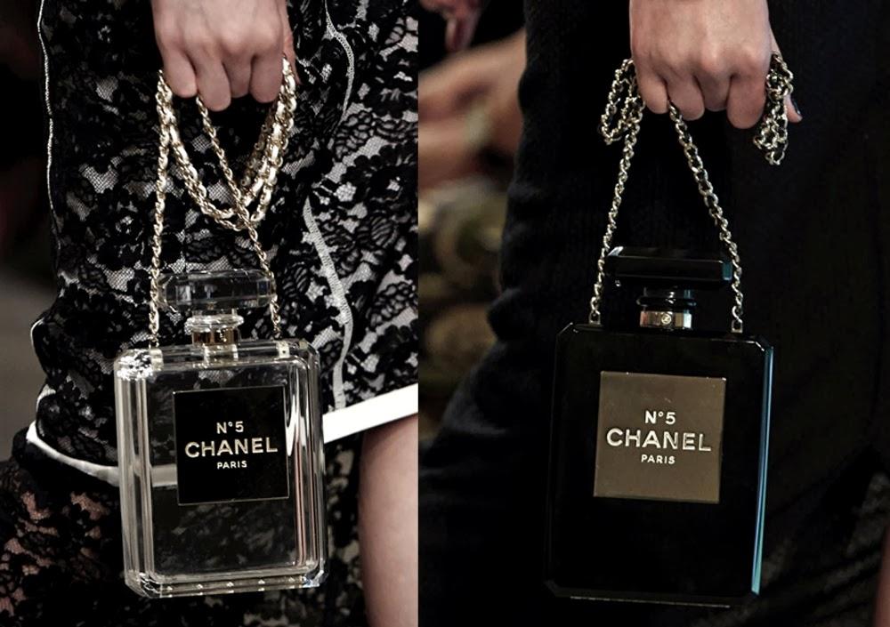 e55e6e1e425 S T Y L E D E C O R U M: Handbag | Chanel Parfum Bottle Clutch