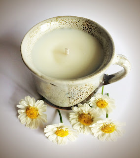 Basil and Lime Curragh Pottery candle by Purity Belle