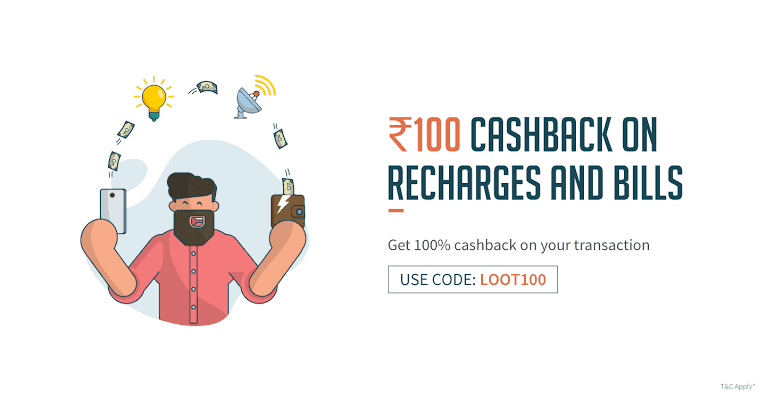 Account Specific] Freecharge – Get Rs 100 Cashback on