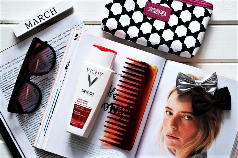 Szampon wzmacniający włosy Vichy Dercos z aminexilem, czyli pierwszy krok w walce z problemem wypadających włosów.
