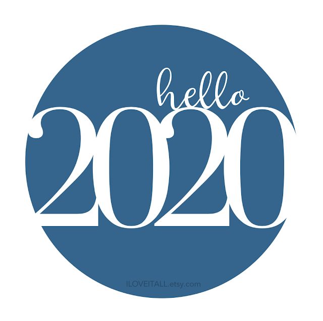 #hello #2020 #color of the year #free printable #Happy New Year #scrapbooking #instant download
