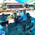 Keakraban Koordinator Satgas TMMD Dengan Warga Desa