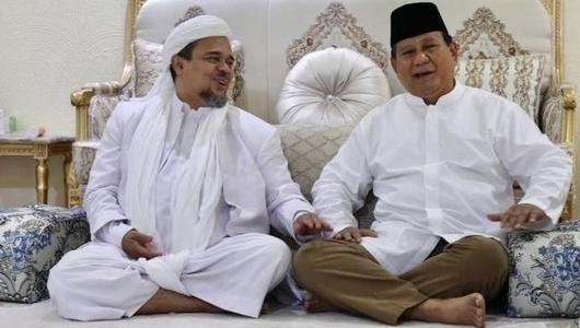 Ingat ! Prabowo yang Janji Pulangkan Rizieq, Bukan Jokowi