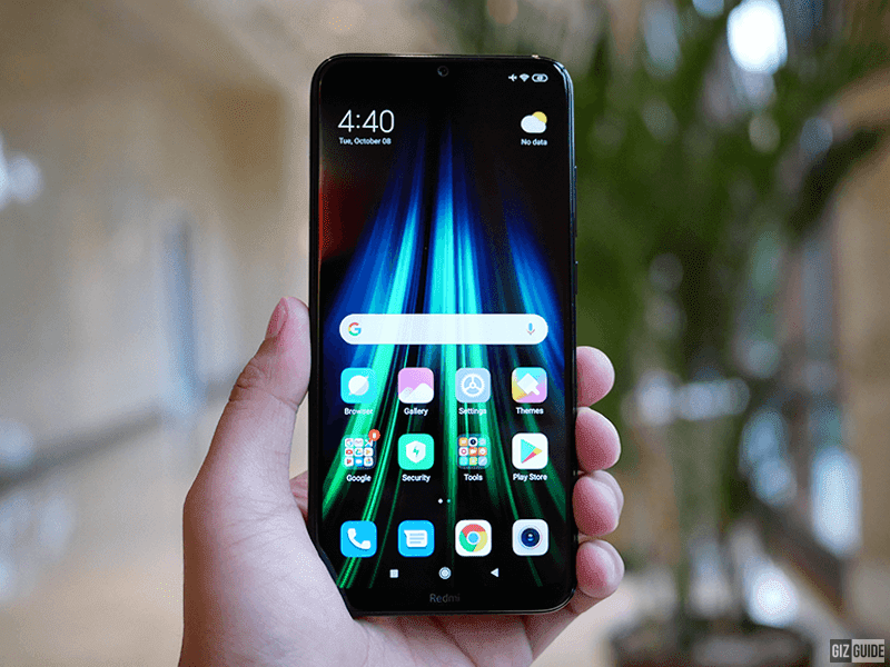 Large display with a tiny notch
