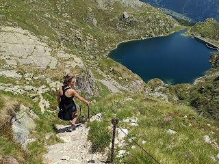 From the trail, a view of Lago Cernello.