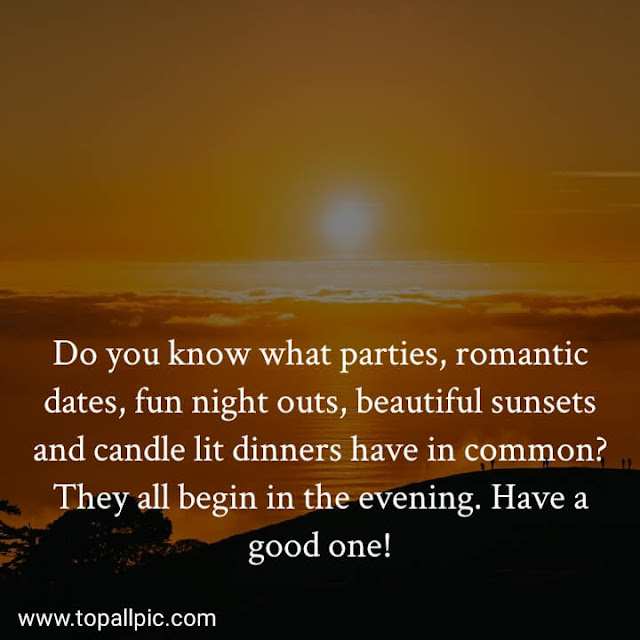 Good  Evening Messages Images