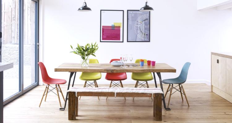 Vivienda nórdica decorada con toques de color/toques provenzales by Habitan2