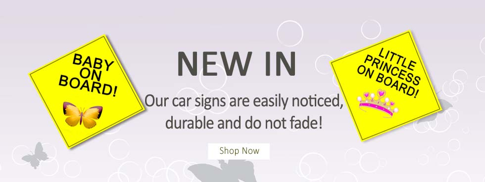 Baby Car Signs