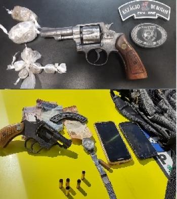 7º BPM apreende  armas de fogo em Pão de Açúcar e  Santana do Ipanema